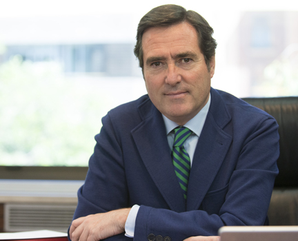Antonio Garamendi, presidente de CEOE