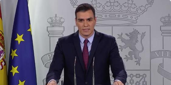Coronavirus Pedro Sanchez Marzo 2020 España