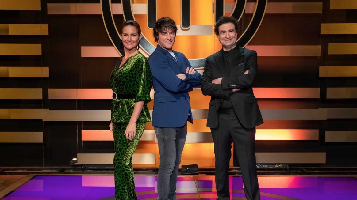 Los chefs Samantha Vallejo-Nágera, Pepe Rodríguez y Jordi Cruz