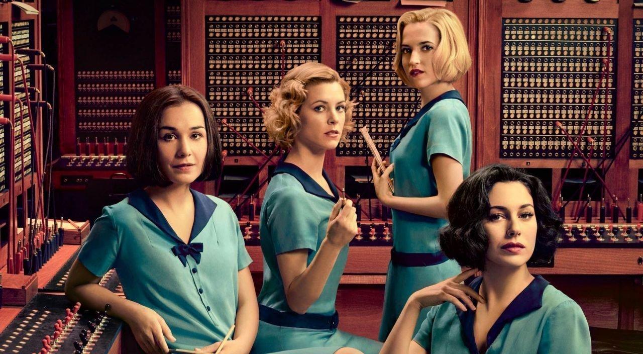 Las chicas del cable - Nadia de Santiago (Marga), Maggie Civantos (Ángeles), Ana Fernández (Carlota) y Blanca Suárez (Lidia)