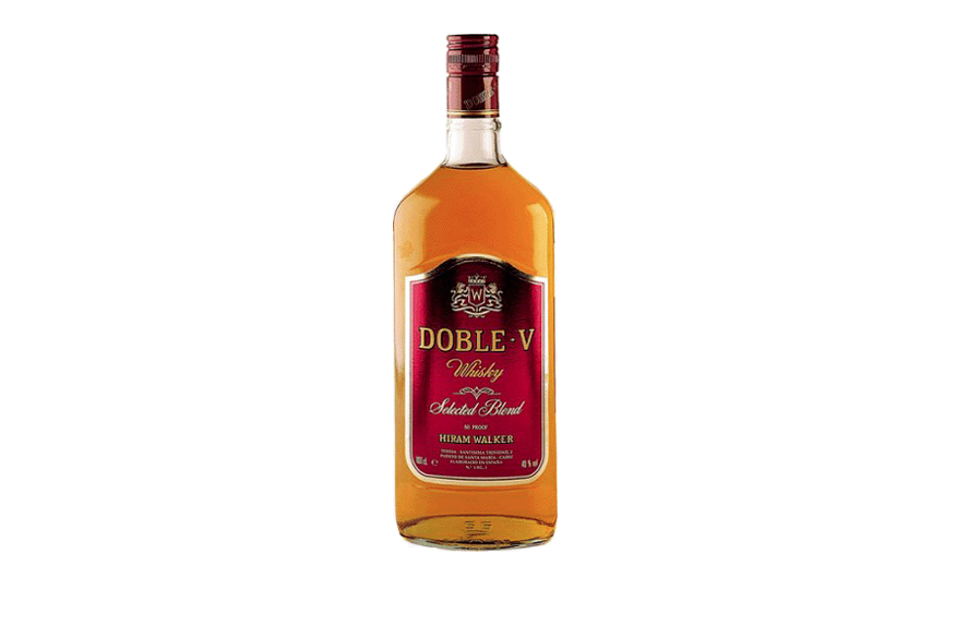 Botella de whisky Doble V