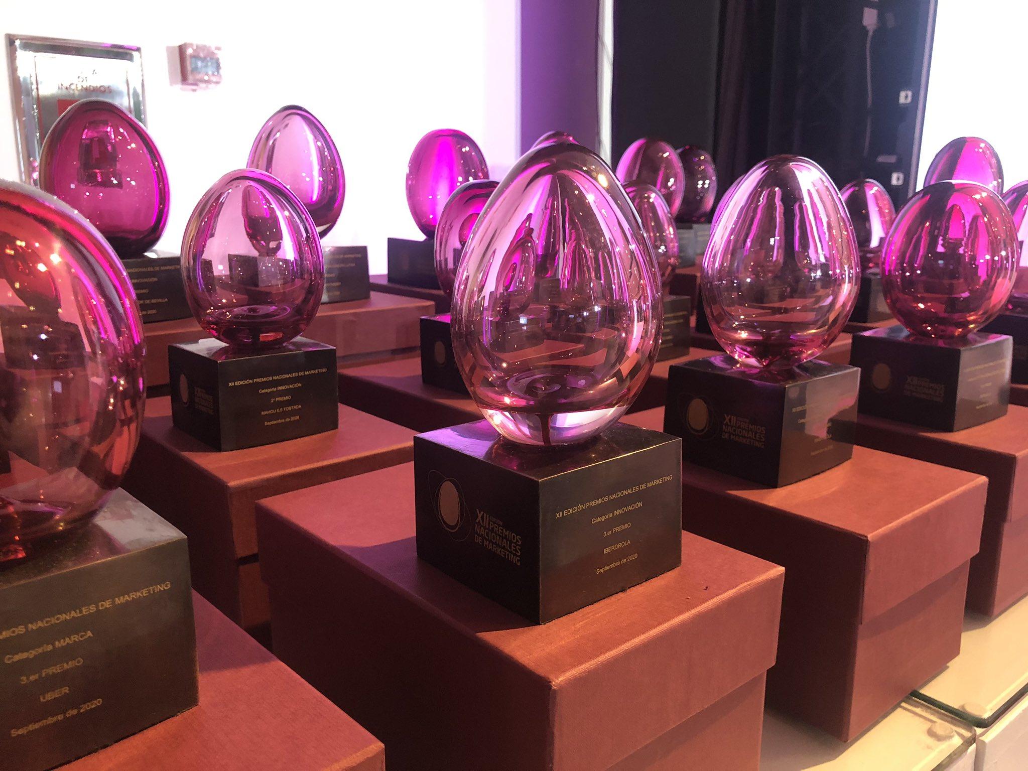 Los galardonados en la XII edición de los Premios Nacionales de Marketing