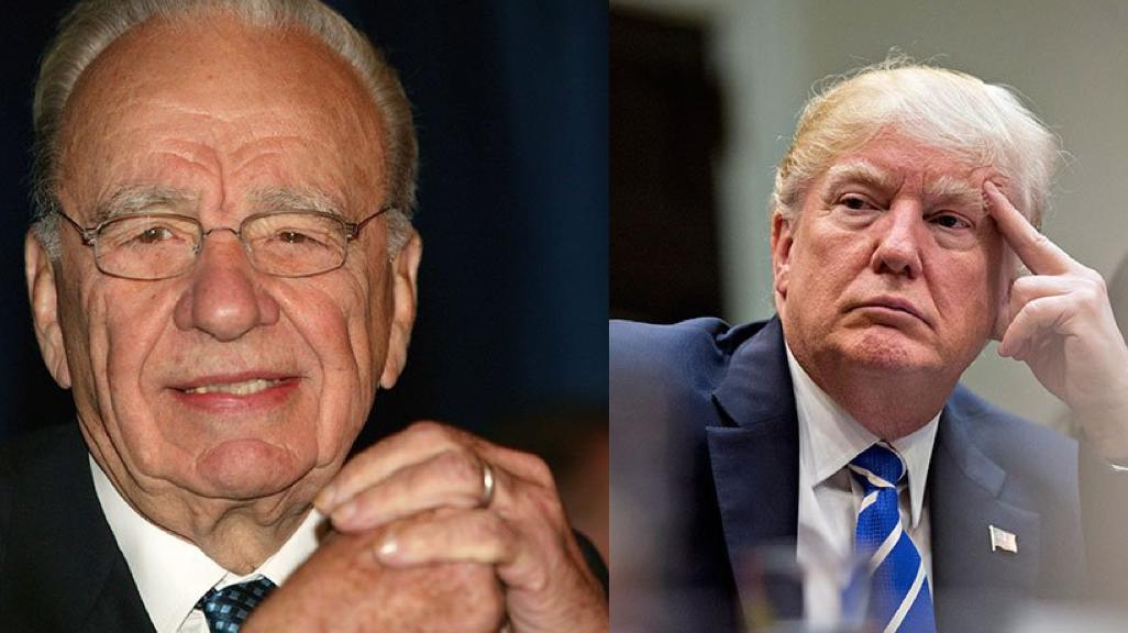 Rupert Murdoch y Donald Trump