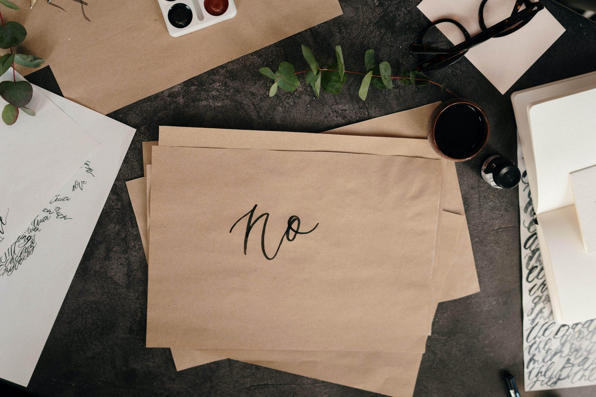 No. Papel escrito
