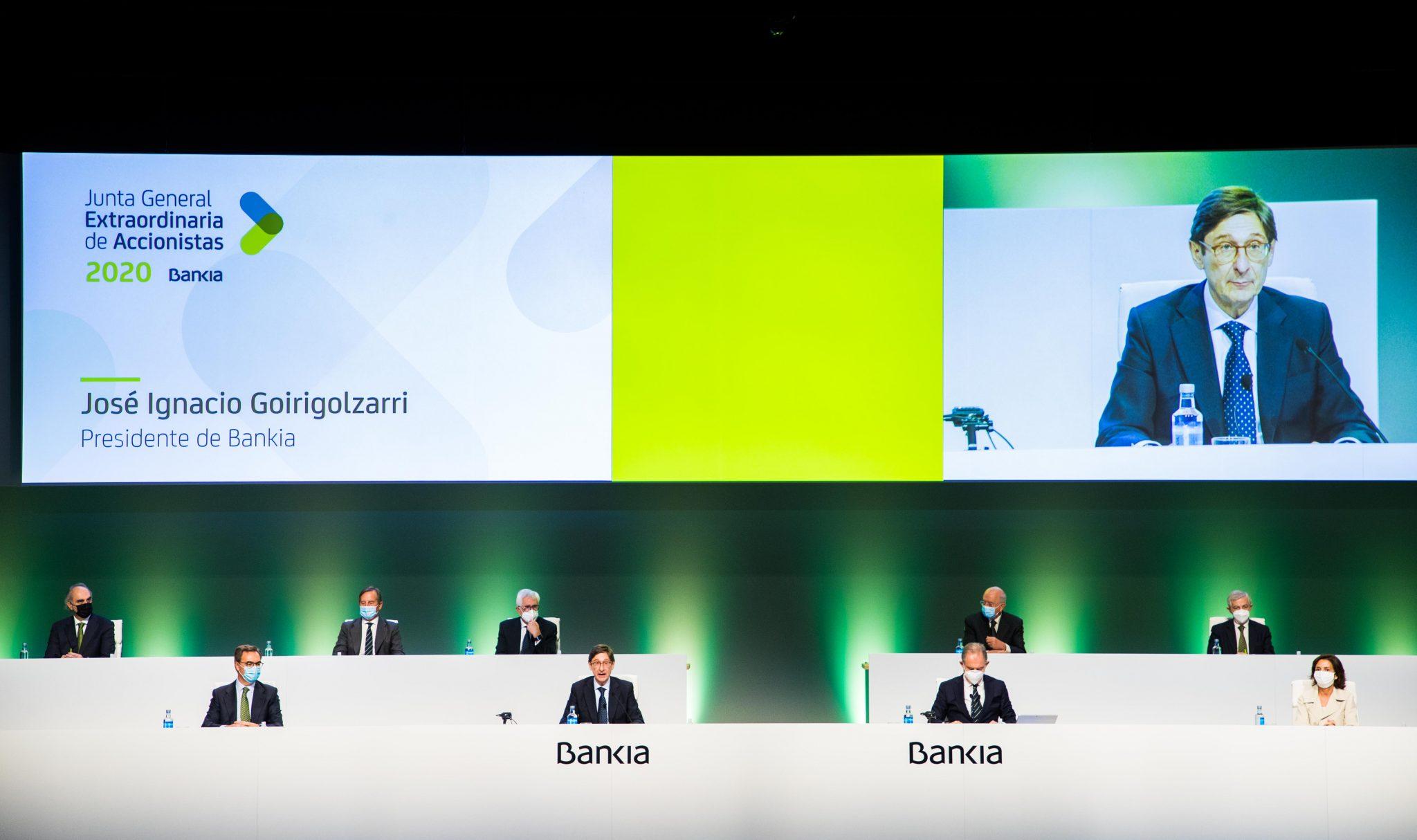 Junta General Extraordinaria de Accionistas de Bankia diciembre 2020