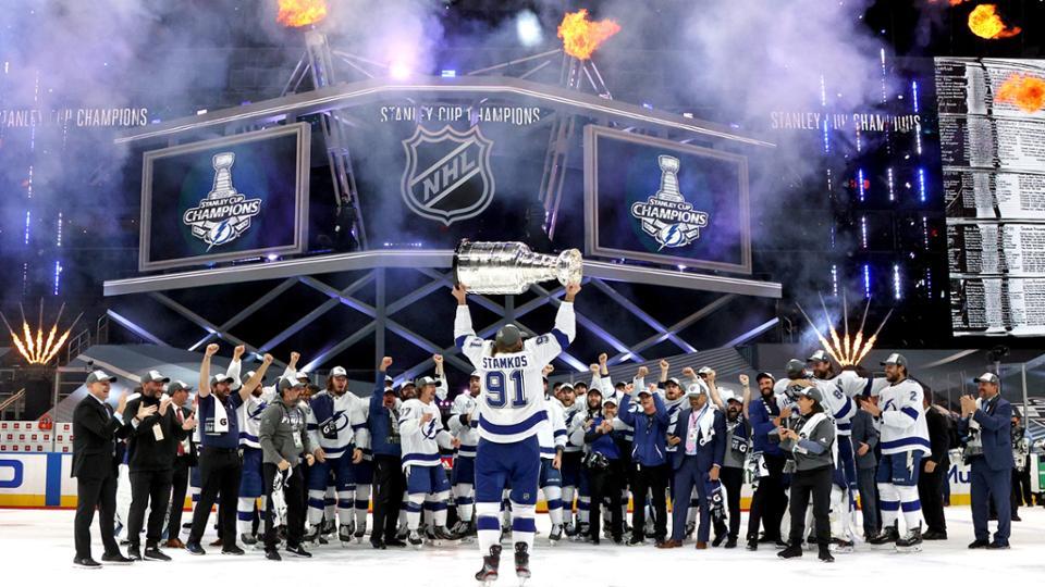 Los Tampa Bay Lightning ganaron la Copa Stanley a finales de septiembre. Foto: NHL.com