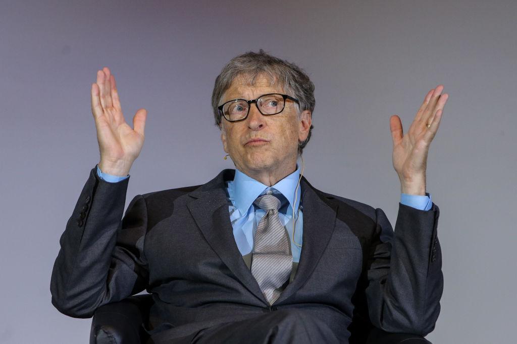 Bill Gates dando una conferencia en la Universidad de Berlín en octubre de 2018. Foto: Christian Marquardt (Getty Images)