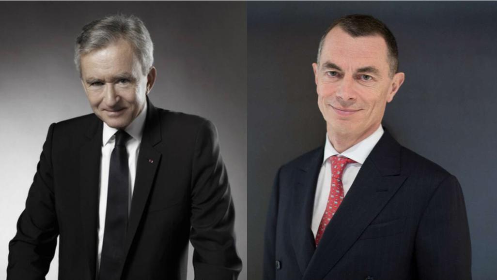 El fundador de LVMH, Bernard Arnault, y el ex consejero delegado de UniCredit, Jean Pierre Mustier. Fotos: LVMH y UniCredit