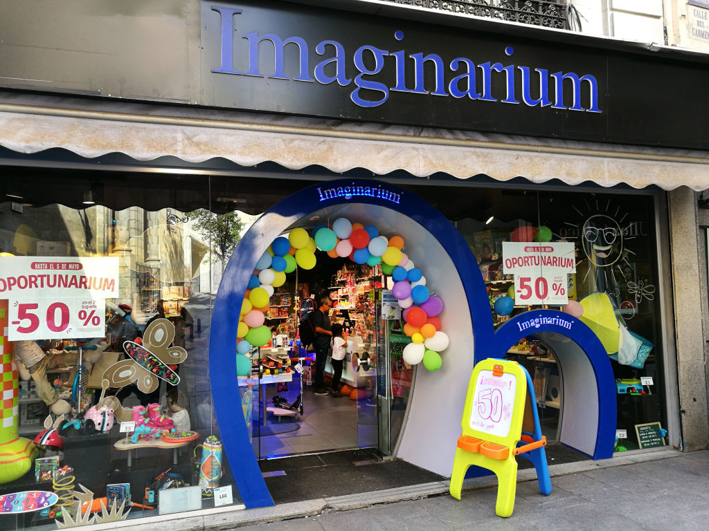 Tienda de juguetes Imaginarium en Madrid (abril de 2019). Foto: Cristina Arias/Cover (Getty Images)