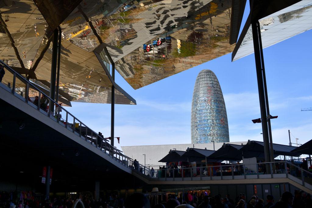 Vista de la Torre Agbar en Barcelona. Getty.