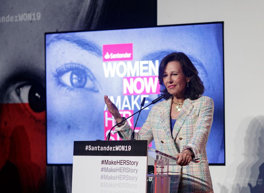 La presidenta de Banco Santander, Ana Botín. (Getty)