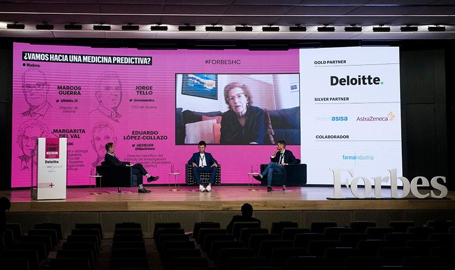 Del Val en un momento de su intervención durante el Forbes Summit Healthcare 2021. Foto: Luis Camacho.