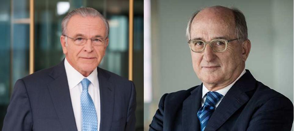 """Isidro Fainé, presidente de Fundación """"la Caixa"""", y Antonio Brufau, presidente de Repsol"""