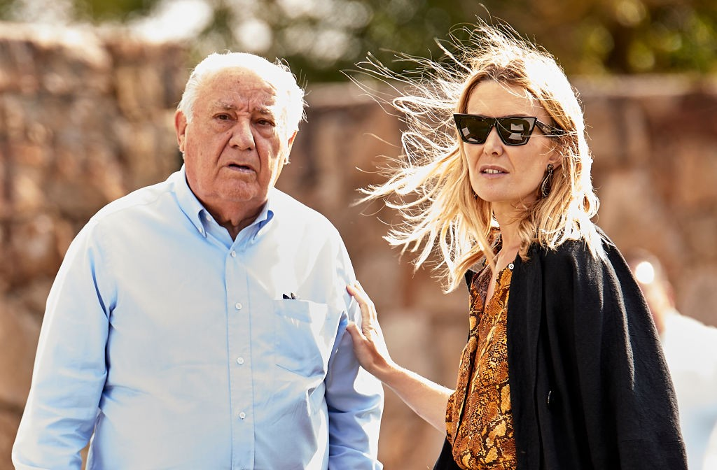 Amancio Ortega y su hija Marta en una foto de archivo. (Getty)