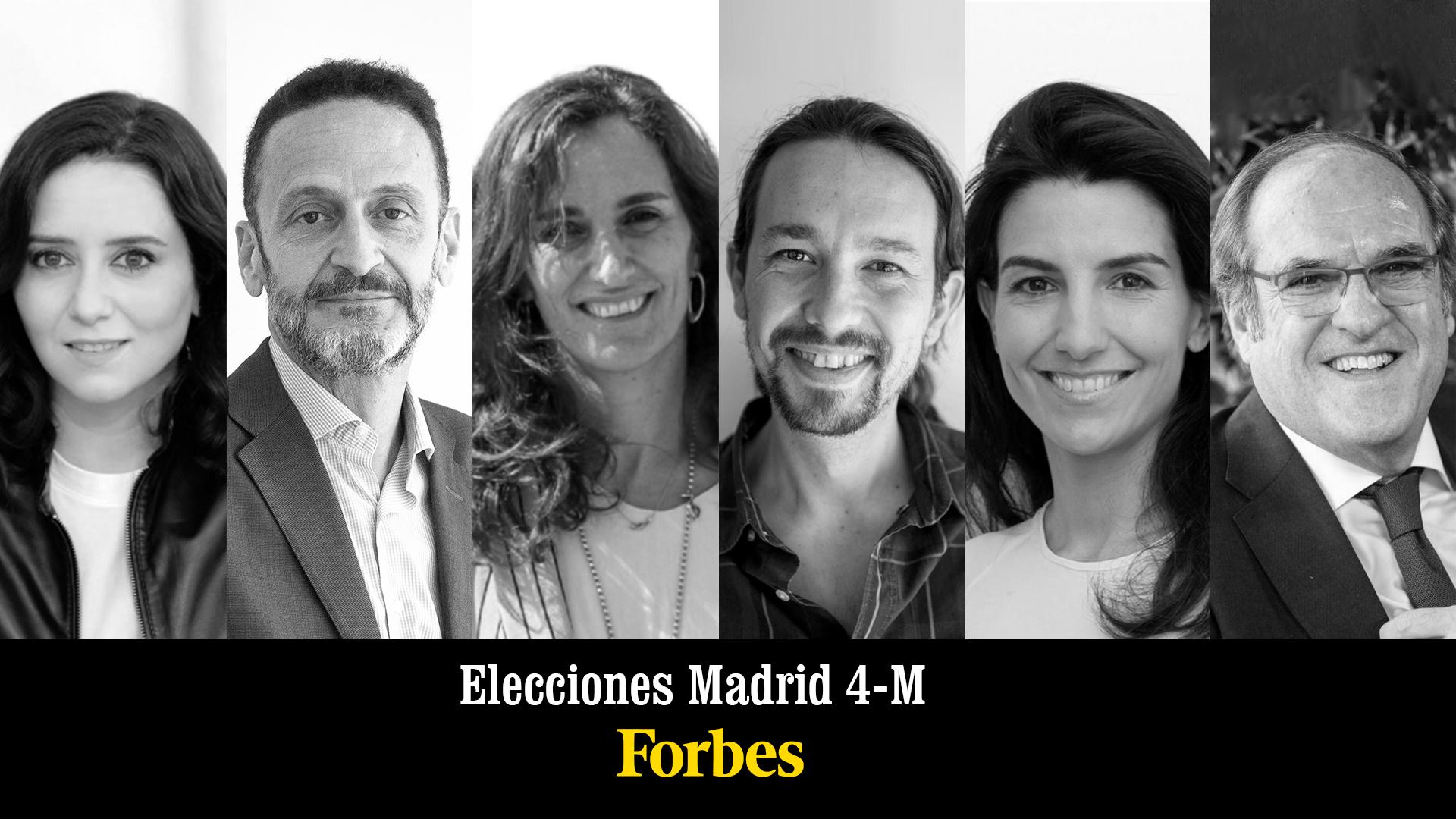 Candidatos elecciones Madrid 2021