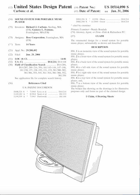 Patente Sound Bose
