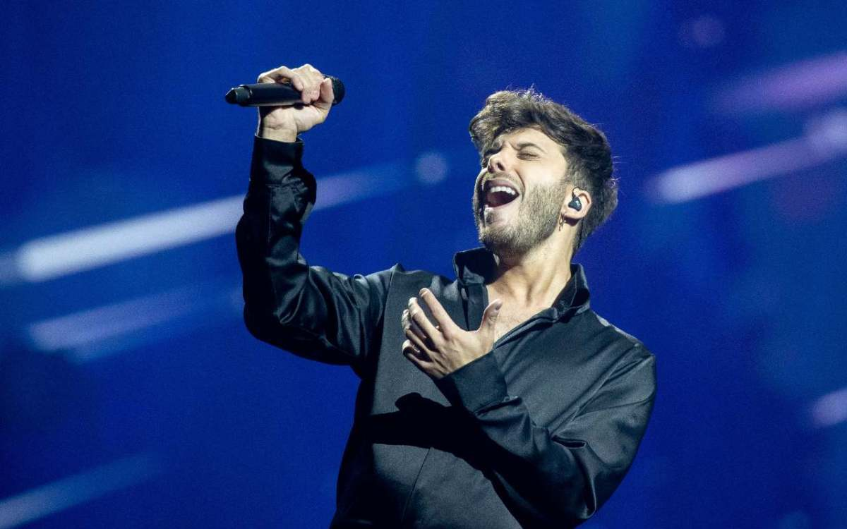 Actuación de Blas Cantó, representante de España en Eurovisión 2021 en Rotterdam.