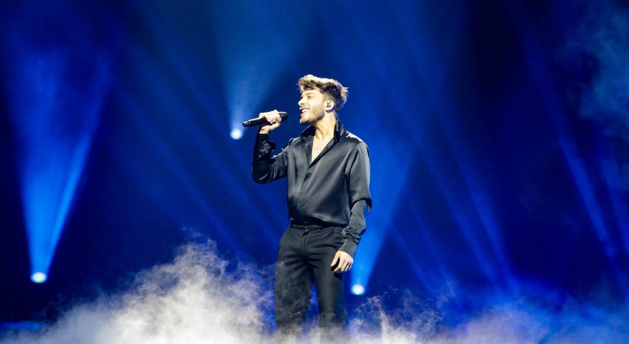 Ensayo de Blas Cantó en Rotterdam para Eurovisión 2021