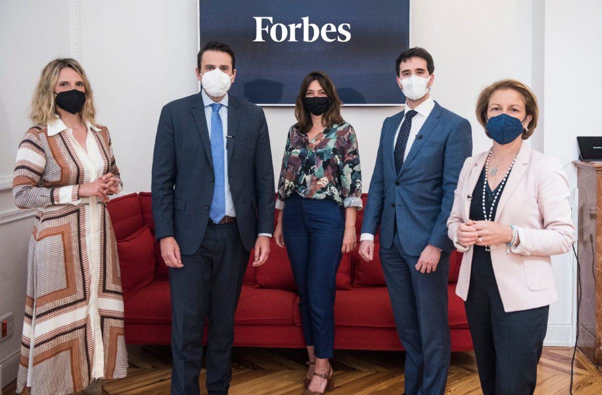 Sofía Benjumea, directora de Google Startups España, Rosa Visiedo, Rectora de la Universidad CEU San Pablo, José Antonio Pinilla, CEO de Asseco Spain, y Miguel Mercado