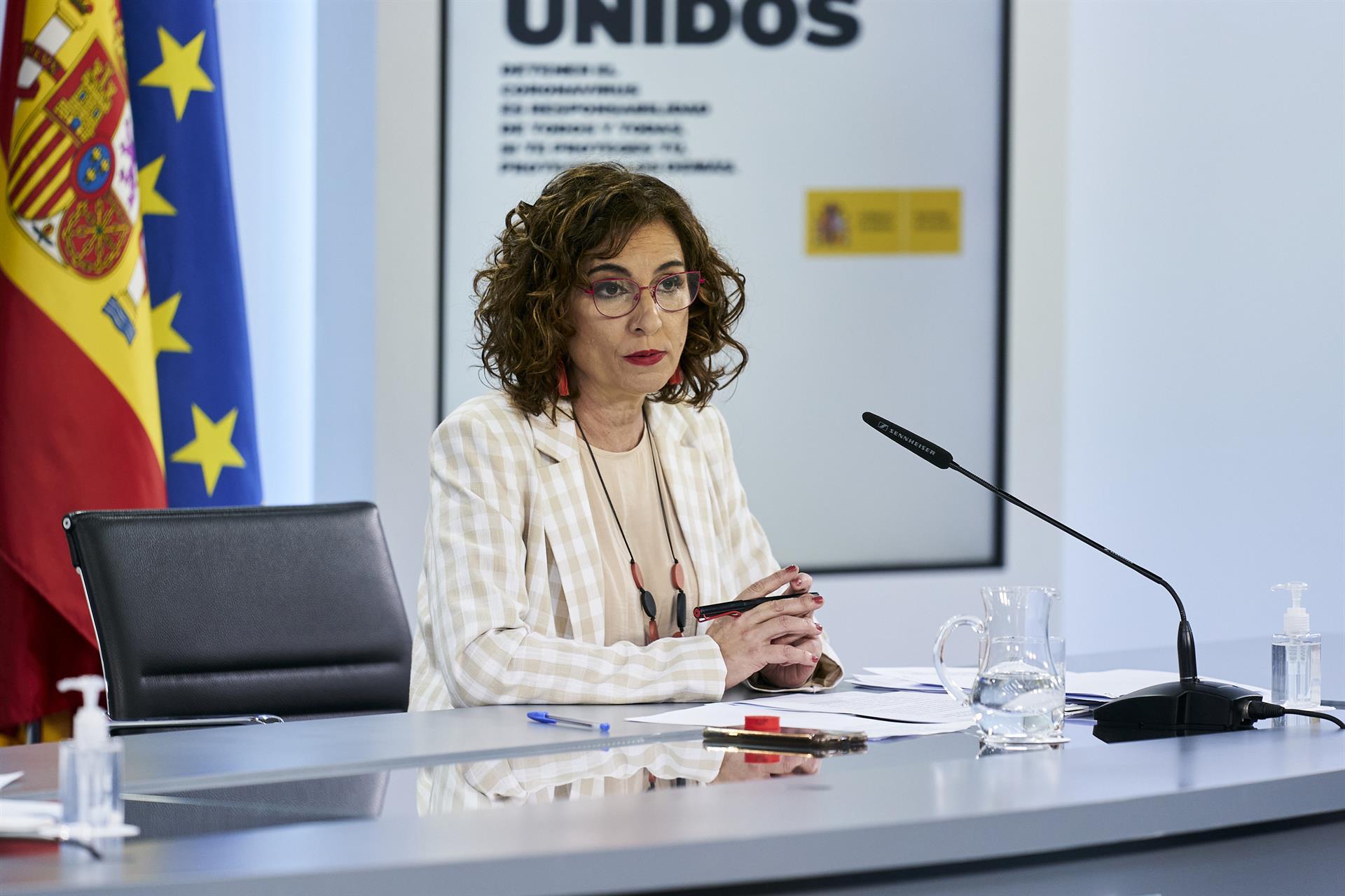María Jesús Montero, ministra portavoz y de Hacienda. Foto: EP