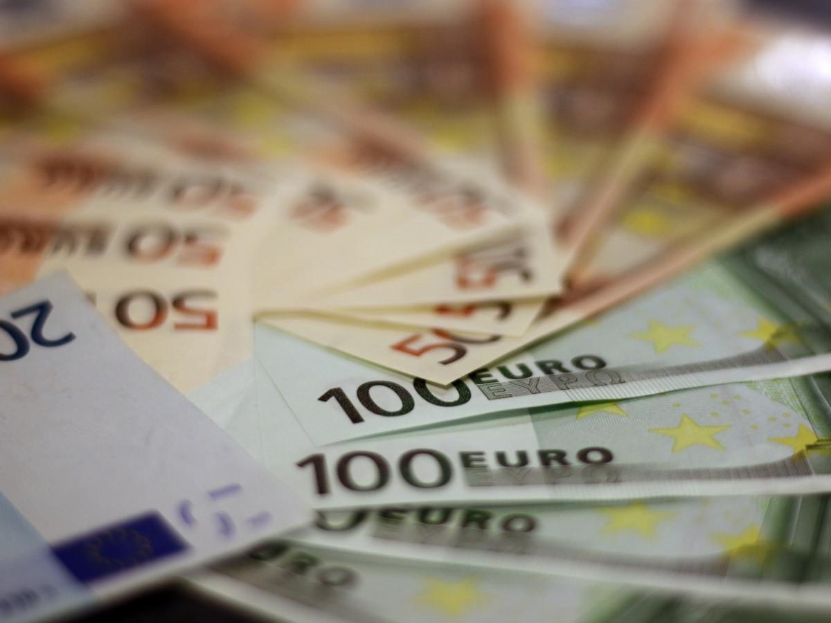 Dinero. Euros. Foto: Pexels