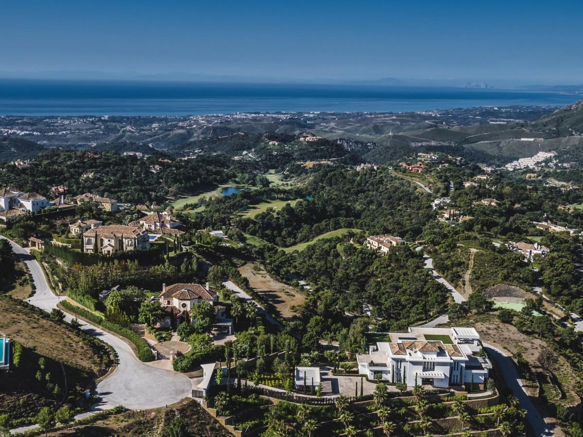 Vista aéra de la urbanización La Zagaleta, en Marbella (Málaga).