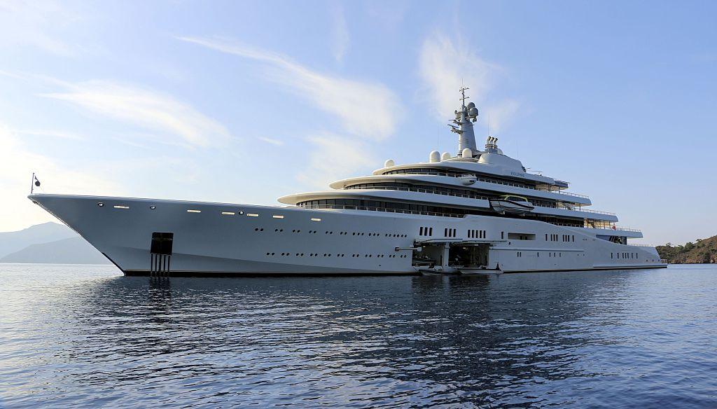 'Eclipse' es el yate del multimillonario ruso Roman Abramovich en el puerto de Gibraltar (Reino Unido). Foto: Christian Charisius/dpa (Getty Images)
