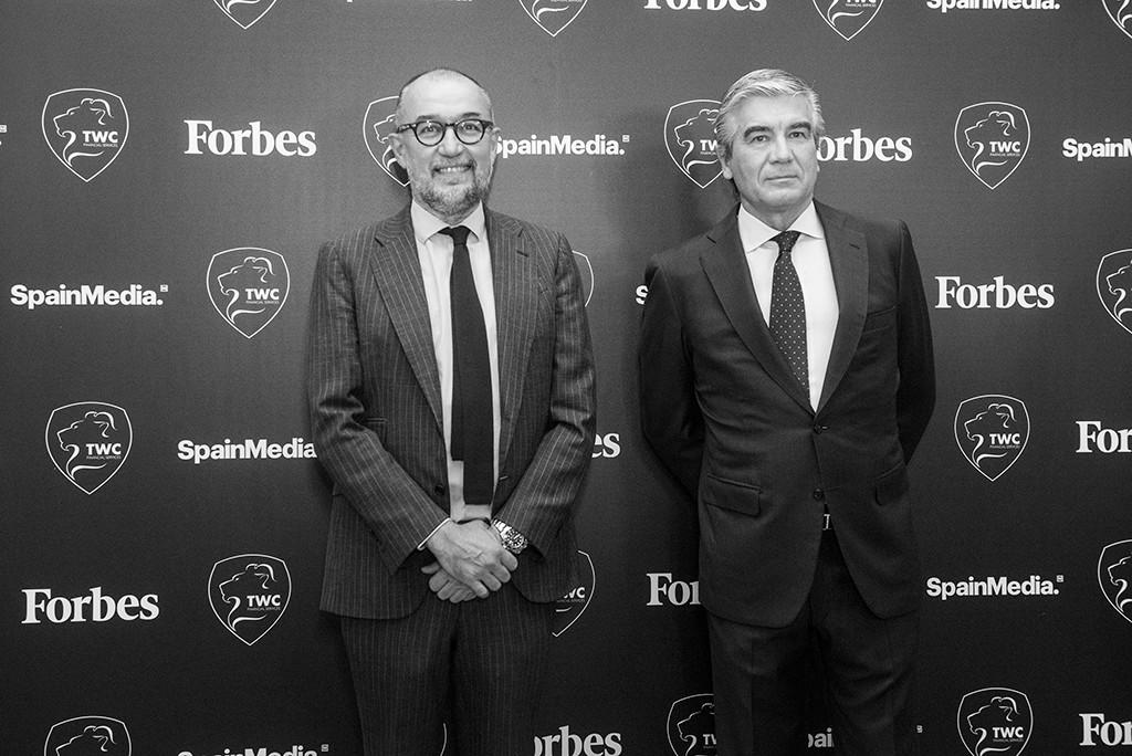 Andrés Rodríguez, Presidente y Editor de Forbes España, y Rancisco Reynés, Presidente y CEO de Naturgy. Foto: Luis Camacho