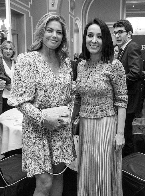 Cristina Valls-Taberner y la abogada Cruz Sánchez de Lara. Foto: Luis Camacho