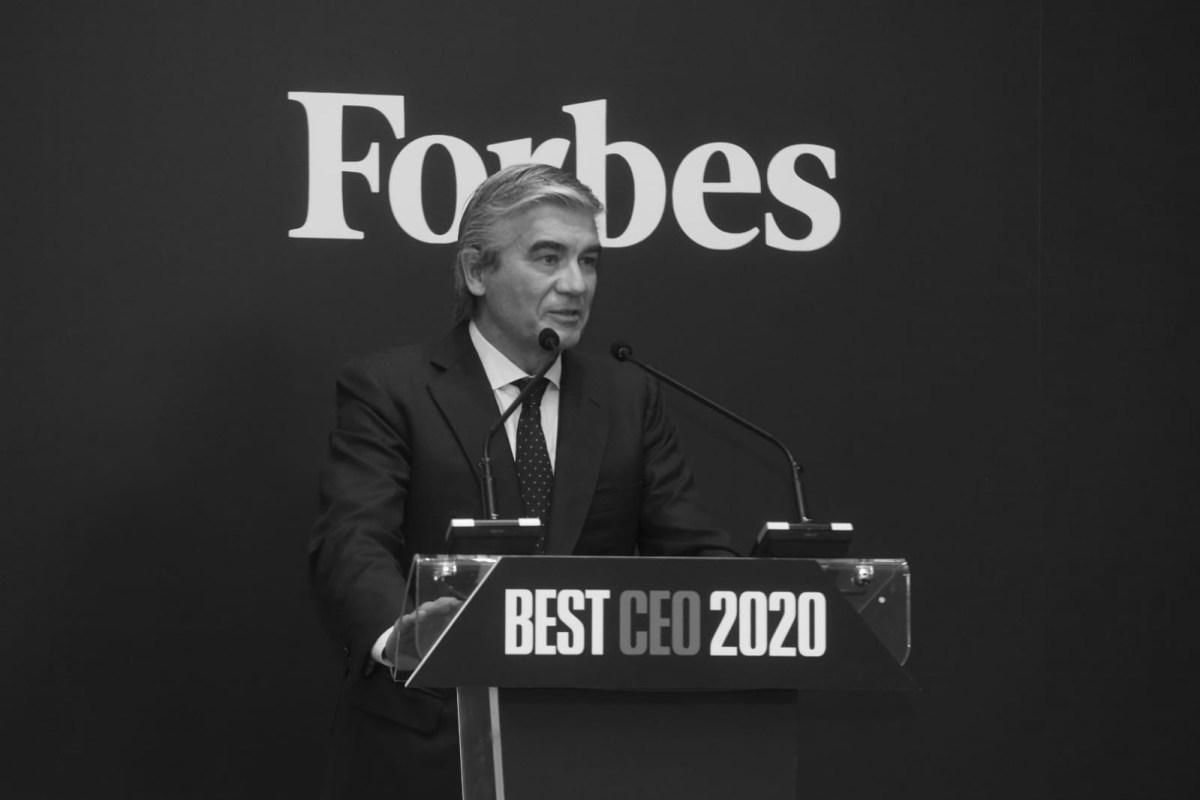 Francisco Reynés, Presidente y CEO de Naturgy, durante su discurso de agradecimiento Mejor CEO 2020. Foto: Luis Camacho