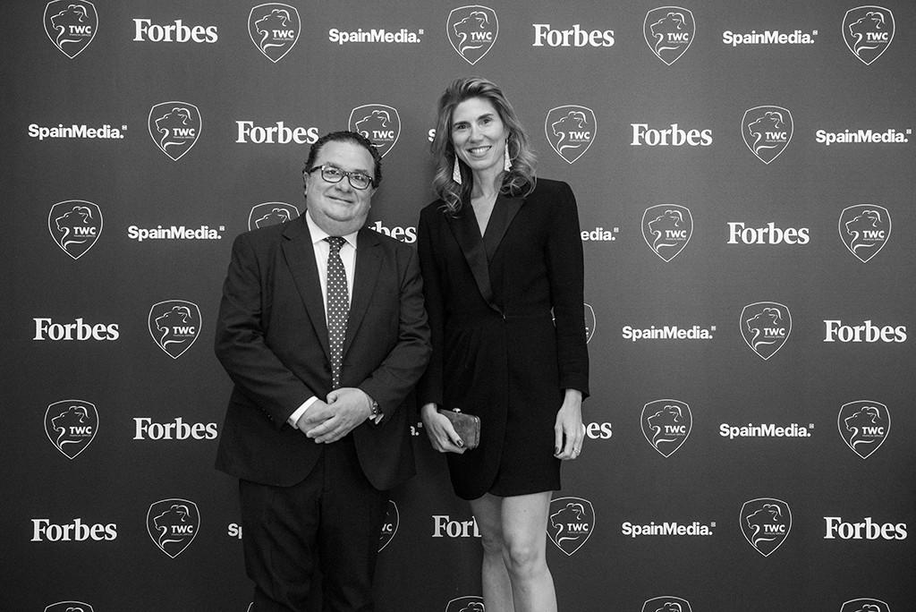 Ignacio Quintana, Director General de SpainMedia, y Silvia. Foto: Luis Camacho