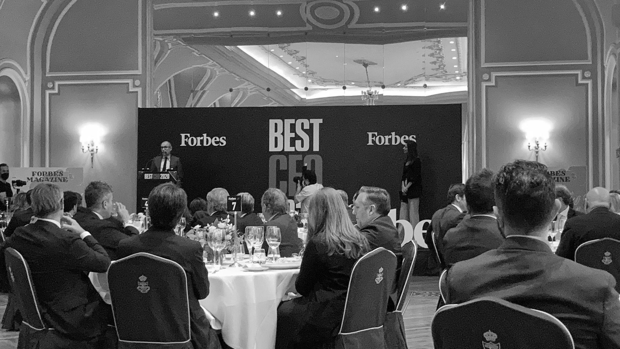 Los asistentes en la cena de gala de Mejor CEO 2020. Foto: Luis Camacho